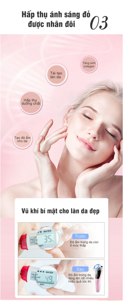 máy massage mặt hot and cold