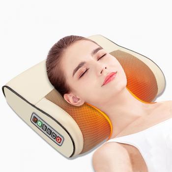 Gối massage hồng ngoại 16 bi trị liệu